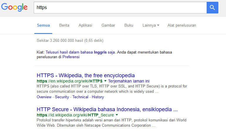 HTTPS Bakal di Indeks Google Secara Default