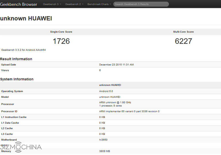 Geekbench Deteksi Ponsel Baru Huawei, Diduga Honor 7X atau Huawei P9