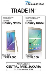 Program tukar tambah trade in Samsung Galaxy Note5 2