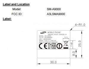 Samsung Galaxy A9 FCC