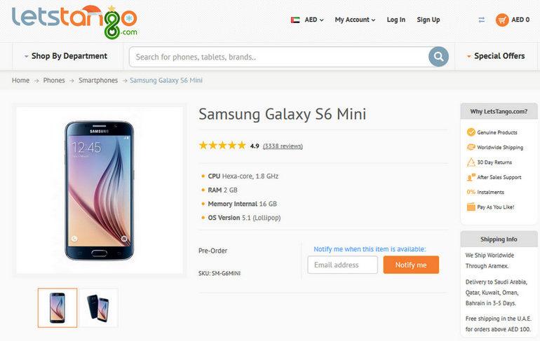 Samsung Galaxy S6 Mini Mempelihatkan Diri di Pengecer Online