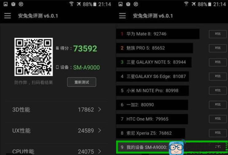 Skor Benchmark Samsung Galaxy A9 1