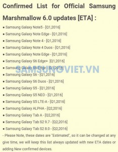 Update Android Marshmallow Samsung Galaxy Note5