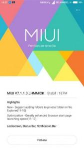 Update MIUI Xiaomi Redmi Note 2 1