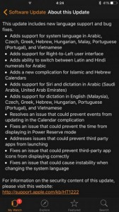 update Apple Watch v2.1