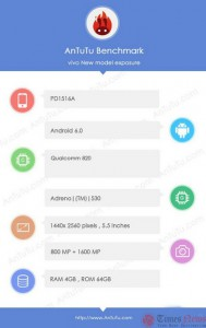AnTuTu Deteksi Vivo Xplay 5S Gunakan Snapdragon 820