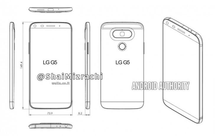 Diagram Desain LG G5 Perlihatkan Perubahan Total Disisi Desain