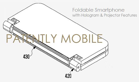 Paten Samsung Perlihatkan Ponsel Lipat yang Terintegrasi Dengan Proyektor dan Hologram