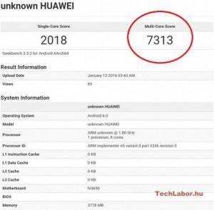 Skor Benchmark Huawei P9 Muncul di GeekBench 1