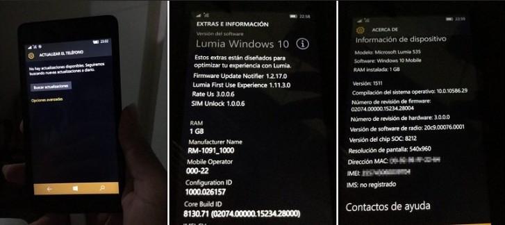 Windows 10 Mobile Untuk Lumia 535 Bergulir di Amerika Latin