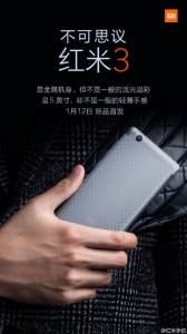 gambar teaser Xiaomi Redmi 3