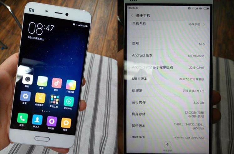 Bocoran Baru Xiaomi Mi 5 Perlihatkan Lagi Spesifikasinya