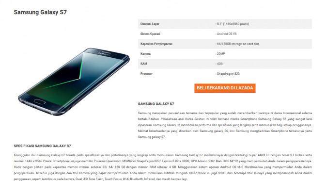 Samsung Galaxy S7 Rilis di Indonesia 22 Februari, Ungkap e-Commerce Indonesia 2