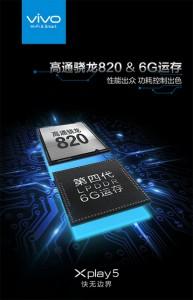 Snapdragon 820 dan RAM 6B di Viivo Xplay 5 Dikonfirmasi
