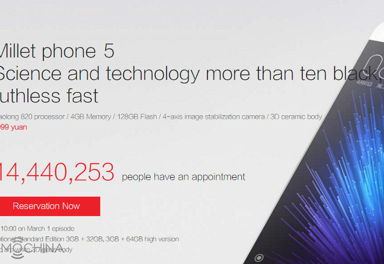 Wow, Xiaomi Mi 5 Dilirik 14,4 Juta Konsumen Terdaftar di China