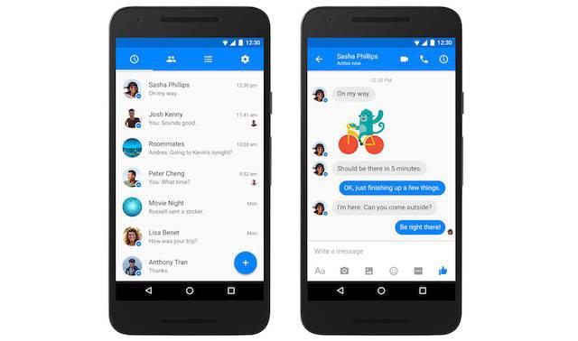 Facebook Messenger Dirombak Ala Material Design