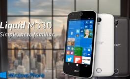 Acer Liquid M330, Smartphone Windows 10 Mobile Terjangkau Meluncur di Eropa