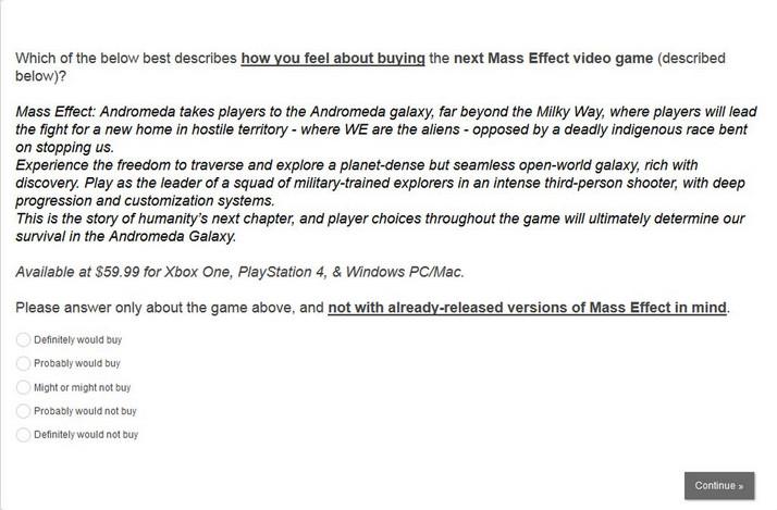 Lewat Survei, Plot Mass Effect Andromeda Terungkap 1