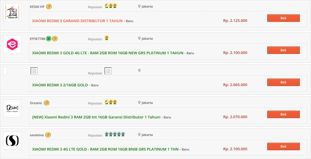 Xiaomi Redmi 3 Ternyata Sudah Beredar di Indonesia 1