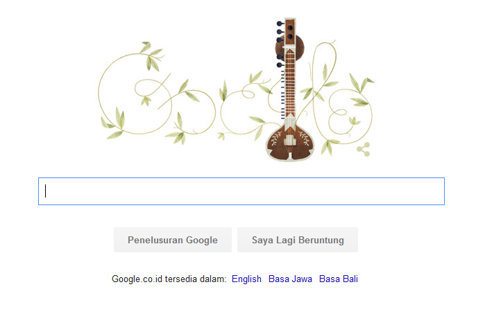 96 Tahun Hari Lahir Pandit Ravi Shankar, Google Peringati Melalui Doodle