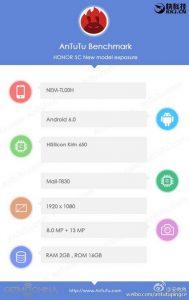 AnTutu Huawei Honor 5C Gunakan Kirin 650 2
