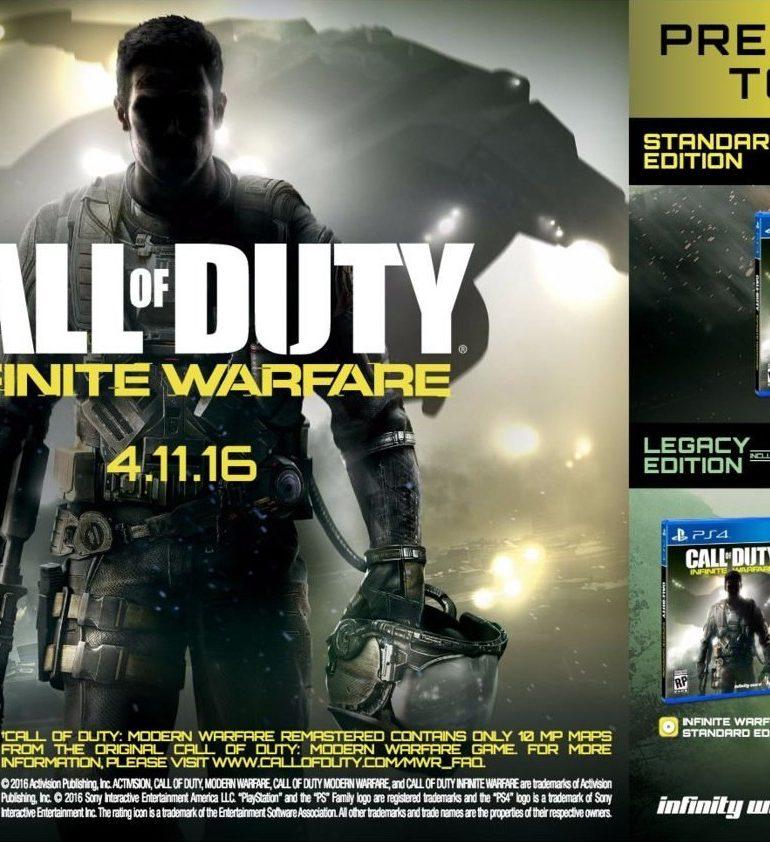 Call of Duty: Infinite Warfare Dikonfirmasi Rilis Bersama Modern Warfare Remastered