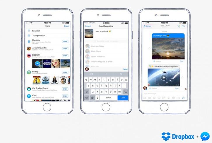 Dropbox Kini Terintegrasi di Facebook Messenger