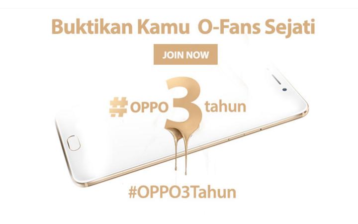 Oppo F1 Plus Jadi Persembahan 3 Tahun Oppo di Indonesia Kepada O-Fans