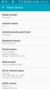 Samsung Galaxy A8 (SM-A800F) Dapatkan Update Keamanan April 2