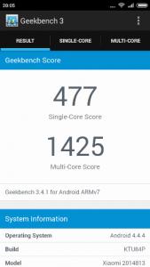Benchmark Xiaomi Redmi 2