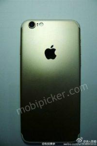 Desain iPhone 7 Warna Gold Dengan Kotak Kemasannya Terlihat Dalam Gambar 2