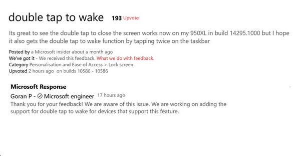 Double-tap-to-wake Perkaya Fitur Windows 10 Mobile