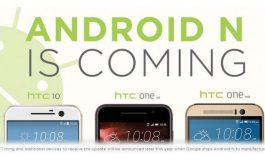 HTC 10, One M9 dan One A9 Akan Dapatkan Android N
