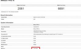 Meizu Pro 6 Dengan RAM 3GB Terlihat di GeekBench