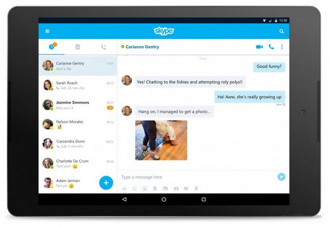 Skype 7.0 Untuk Android Bawa Antarmuka Baru Khusus Tablet