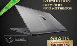 Tiap Beli ROG GL752VW, ASUS Tawarkan Memori RAM 4GB DDR4