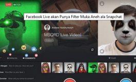 Filter Wajah Segera Tiba di Facebook Live