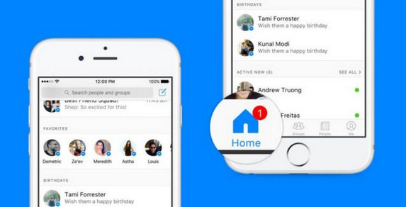 Homescreen Facebook Messenger Dirombak