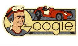 Juan Manuel Fangio, Sang Maestro Formula 1 di Google Doodle