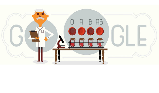 Karl Landsteiner di Google, Temuannya Selamatkan Miliaran Nyawa