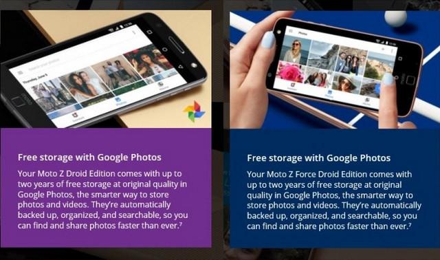Motorola Tawarkan Gratis Penyimpanan Video 4K dii Google Foto Untuk Tiap Pembelian Moto Z Series
