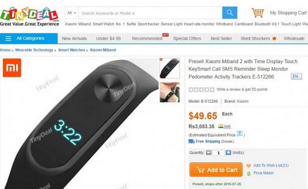 Pre-order Xiaomi Mi Band 2 Dibuka Sebelum Diluncurkan