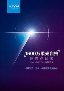 Vivo X7 & X7 Plus Diluncurkan 30 Juni 1