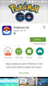 Download Pokemon Go di Google Play Store