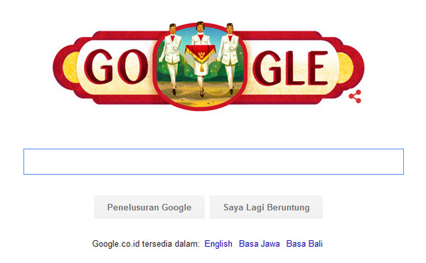 Gambar Dirgahayu Kemerdekaan Indonesia ke-71, 17 Agustus 2016 di Google dan Tradisi Panjat Pinang di Indonesia