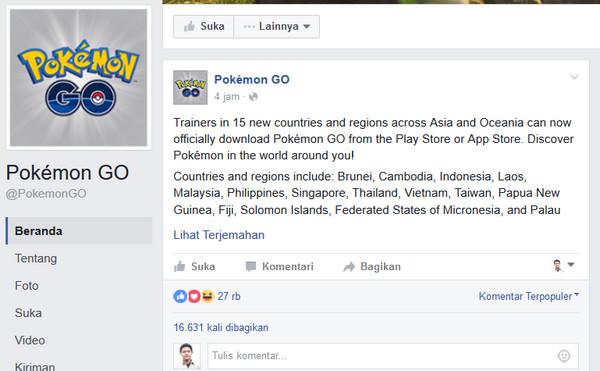 Game Pokemon Go Resmi Rilis di Indonesia, Download di Google Play Store & App Store Sekarang!