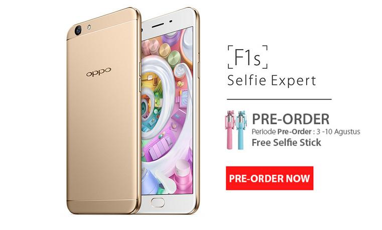 Pre-order Oppo F1s Mulai Dibuka Hari Ini Hingga 10 Agustus