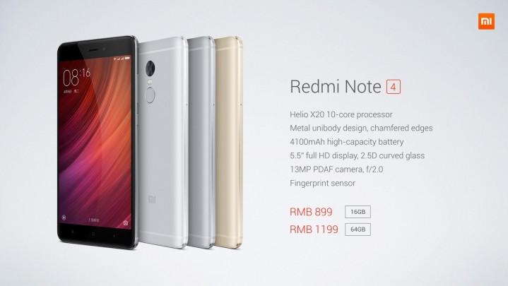 Resmi! Ini Spesifikasi & Harga Xiaomi Redmi Note 4 1