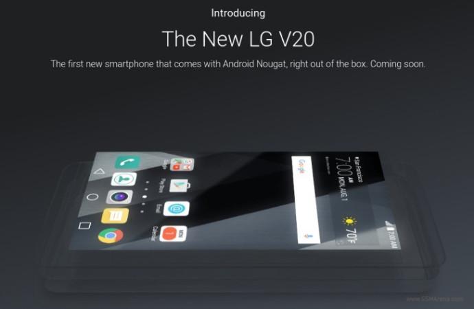 Jelang Peluncuran, Spesifikasi Lengkap LG V20 Terungkap