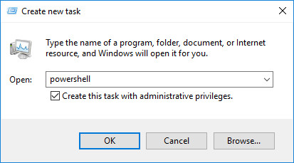 Create new task powershell